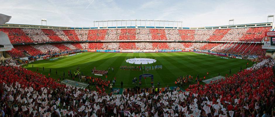 Tifo Atlético de Madrid - Málaga