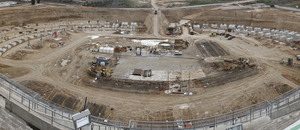 Obras del nuevo estadio en el mes de marzo