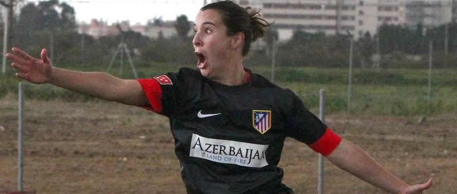 Temporada 2012-2013. Priscila celebra el primer gol ante el Sevilla F.C.