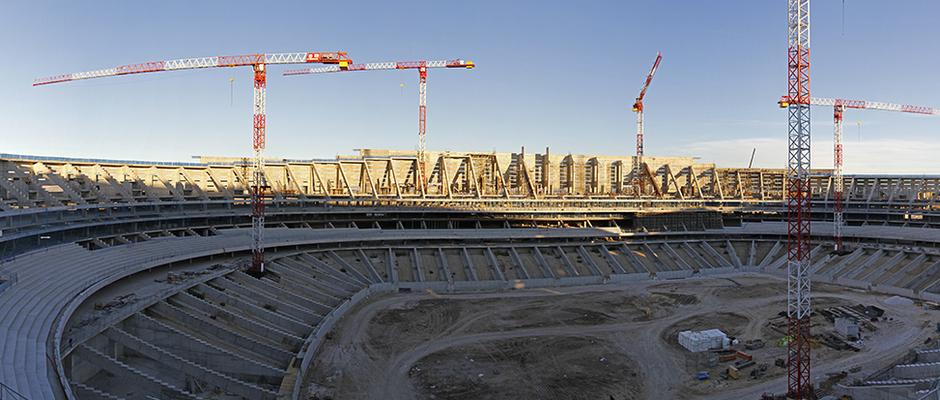 Nuevo estadio. Vista general desde el córner noroeste
