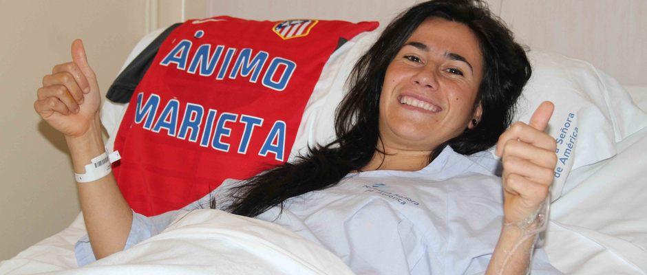 Temporada 2012-2013. Marieta tras su operación de menisco