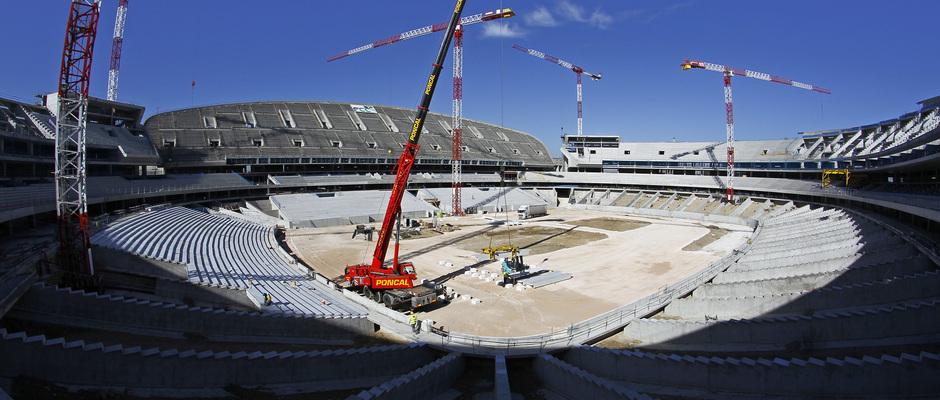 Nuevo estadio. Vista general desde el córner sureste