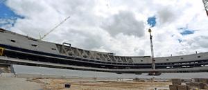 Nuevo estadio. Vista general del lateral este