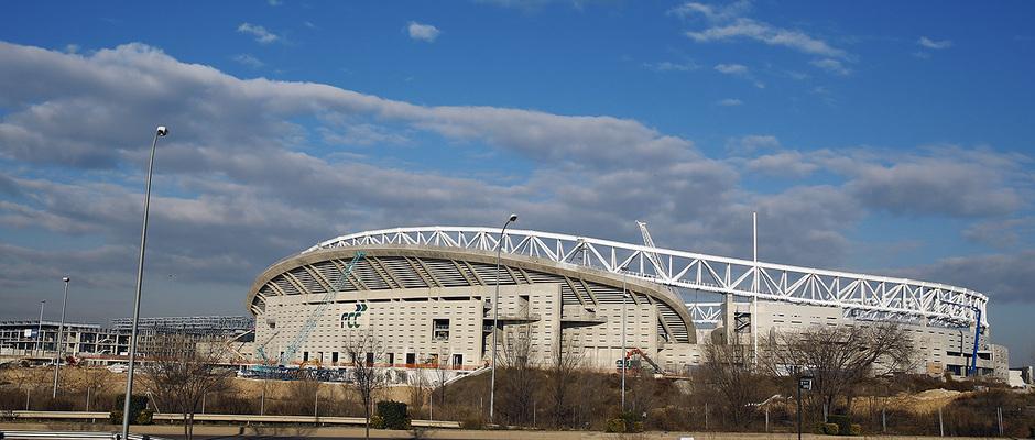 Wanda Metropolitano, del exterior, 5 de enero de 2017