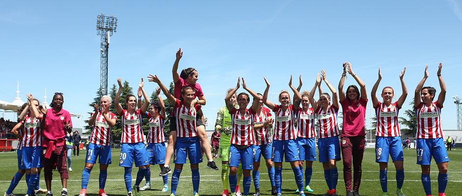 temporada 16/17. Partido Liga Ibedrola Atlético de Madrid Real Sociedad. Campeonas de Liga