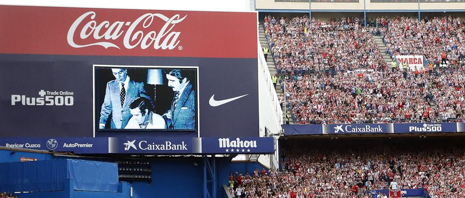 Temp. 16/17   Homenaje Calderón   Momento Luis Aragonés