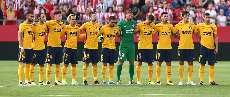 Temp. 17-18   Girona - Atlético de Madrid   Minuto de silencio