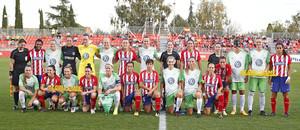 Temporada 17/18. Partido entre el Atlético de Madrid Femenino contra el Wolfsburgo. Los dos equipos