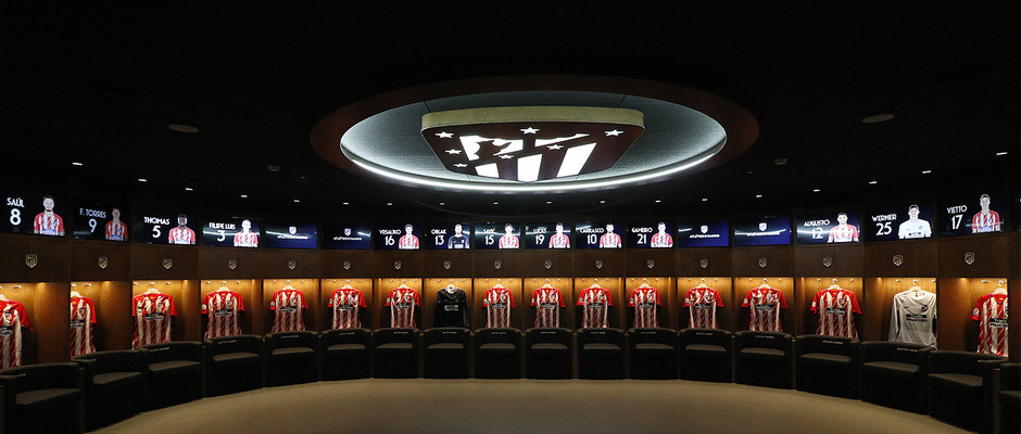 Vestuario del Wanda Metropolitano