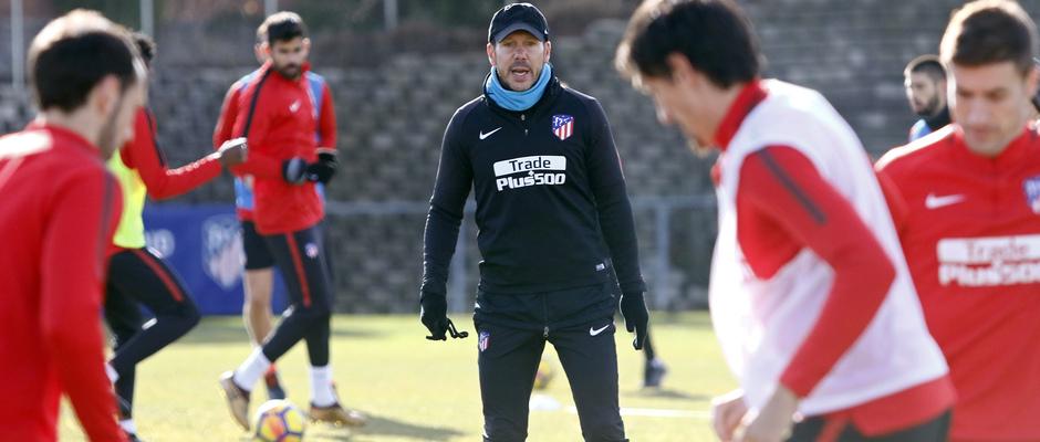 Temporada 17/18 | Entrenamiento en la Ciudad Deportiva Wanda | 12/01/2018 | Simeone