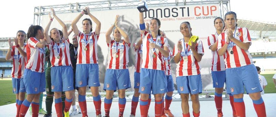 Temporada 2012-2013. El Féminas D subcampeón de la Donosti Cup