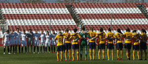 Temp 17/18 | Sevilla FC - Atlético de Madrid Femenino | Jornada 26 | 14-04-18 | Minuto de silencio