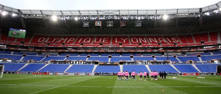 Temporada 17/18. Atlético de Madrid. Final de la Europa League en Lyon. Entrenamiento. Stade de Lyon