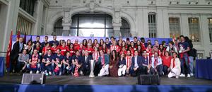 Temp. 17-18 | Recibimiento en el Ayuntamiento de Madrid | Foto de familia
