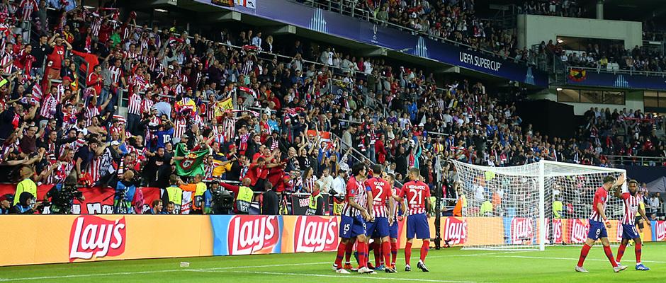 temporada 18/19. Supercopa de Europa. Celebración gol de Diego Costa