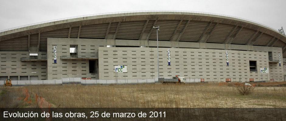 Obras del nuevo estadio del Atlético de Madrid