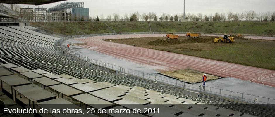 Obras del nuevo estadio del Atlético de Madrid (25/03/2011)