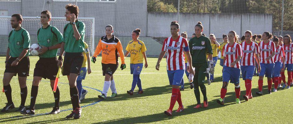 Temporada 2013-2014. Partido amistoso entre el Peluquería Mixta Friol y el Féminas