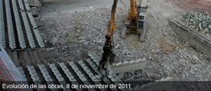 Obras del nuevo estadio del Atlético de Madrid (08/11/2011)