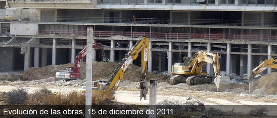Obras del nuevo estadio del Atlético de Madrid (15/12/2011)