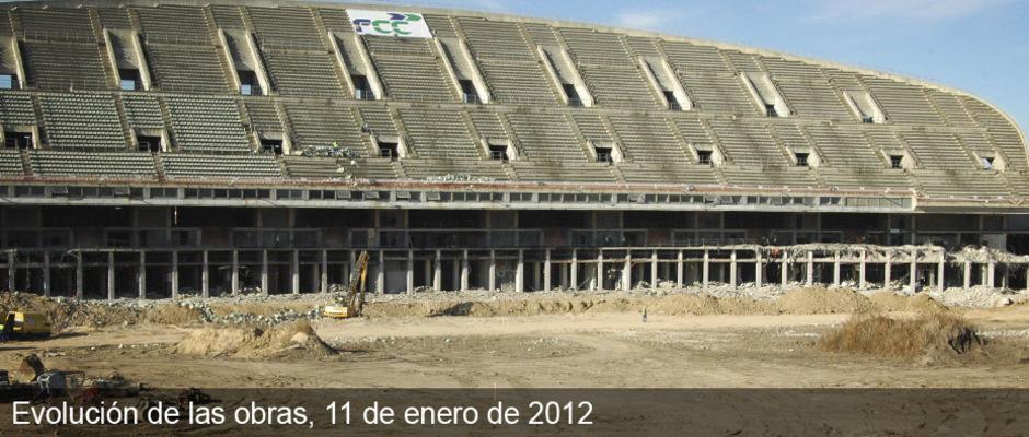 Obras del nuevo estadio del Atlético de Madrid (11/01/2012)