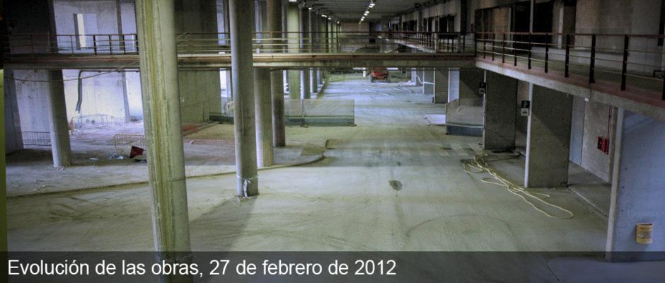 Obras del nuevo estadio del Atlético de Madrid (27/02/2012)