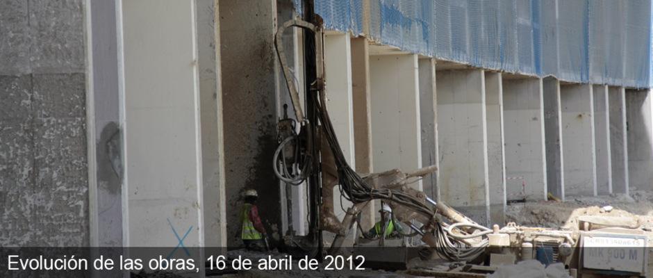 Obras del nuevo estadio del Atlético de Madrid (16/04/2012)