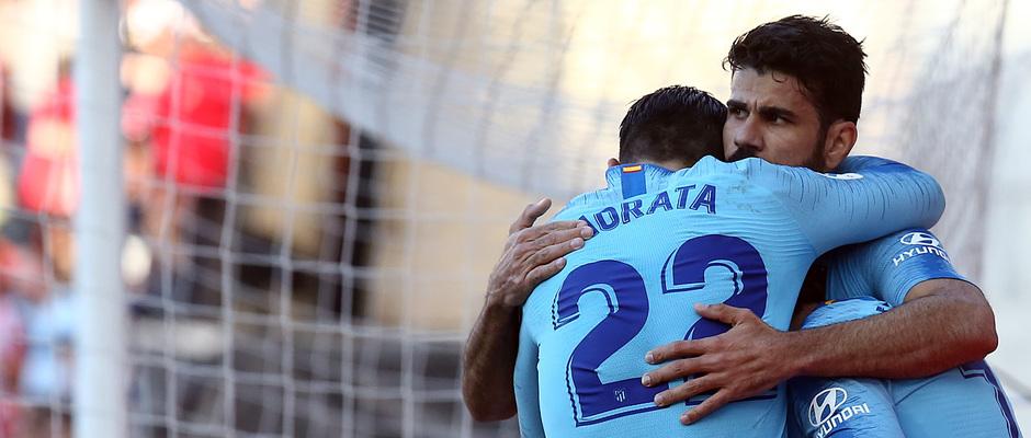 Temporada 18/19 | Rayo Vallecano - Atlético de Madrid | Costa y Morata celebración