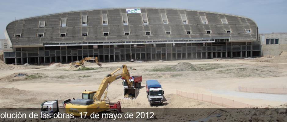 Obras del Nuevo Estadio del Atlético de Madrid (17/05/2012)