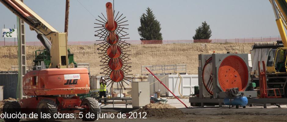 Obras del Nuevo Estadio del Atlético de Madrid (05/06/2012)