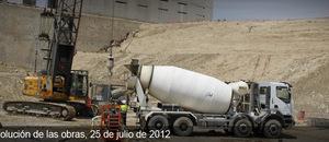 Obras del Nuevo Estadio del Atlético de Madrid (25/07/2012)