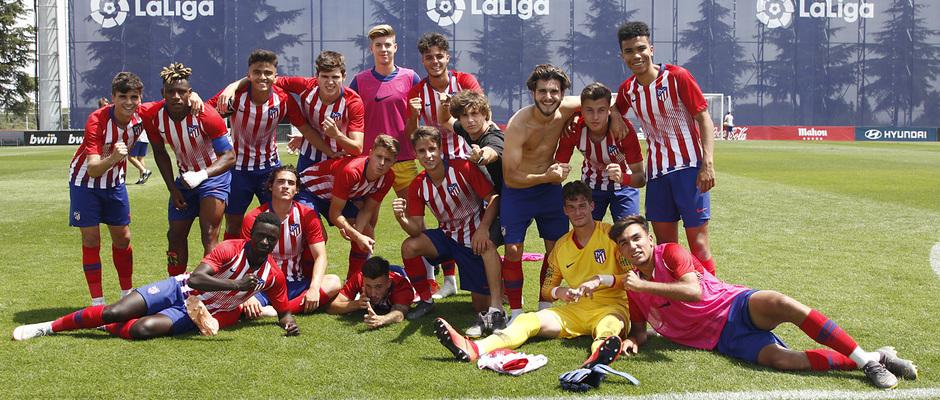 Temporada 19/20 | Atlético de Madrid Juvenil A - Levante | Copa del Rey | Celebración
