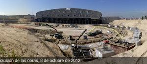 Obras del Nuevo Estadio del Atlético de Madrid (08/10/2012)