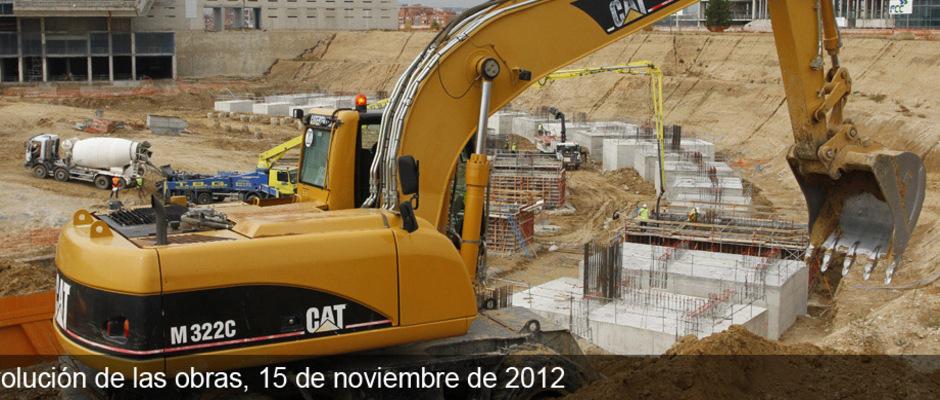 Obras del Nuevo Estadio del Atlético de Madrid (15/11/2012)