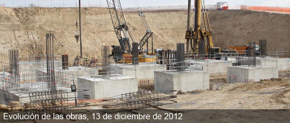 Obras del Nuevo Estadio del Atlético de Madrid (13/12/2012)