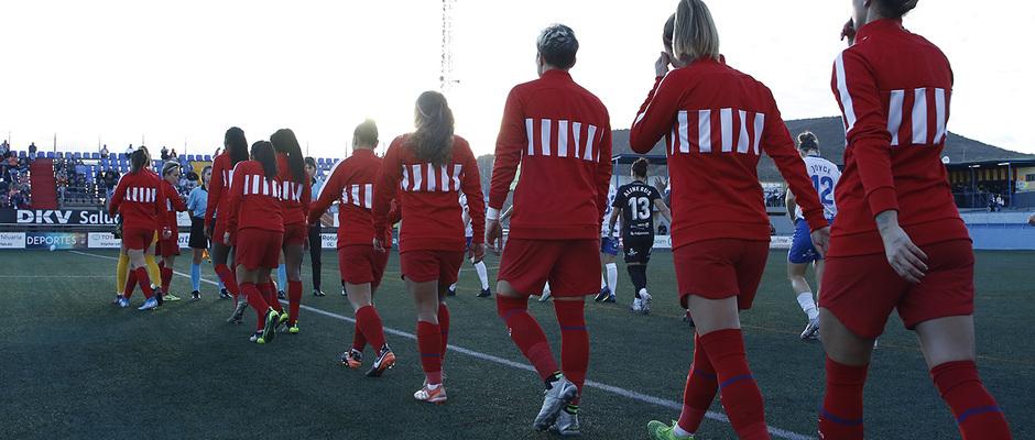 Temporada 18/19 | Granadilla Tenerife - Atlético de Madrid Femenino | Salida de los equipos