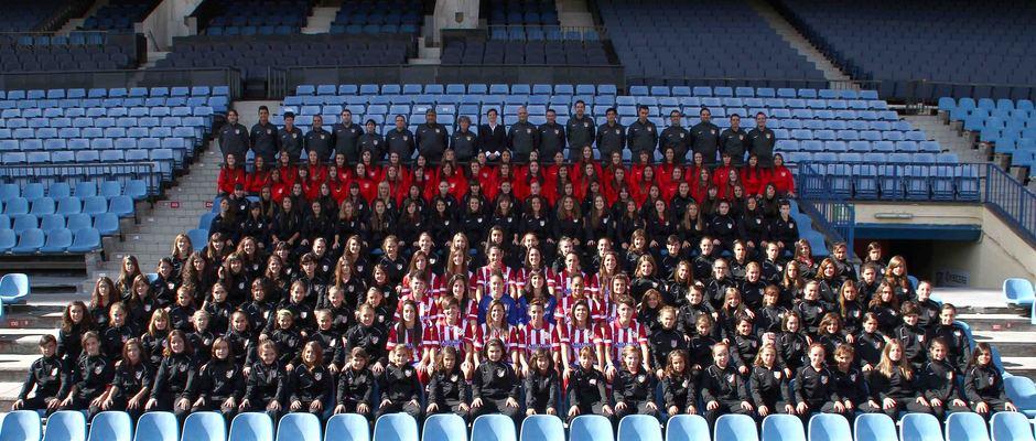 Temporada 2013-2014. Foto de familia del Atlético de Madrid Féminas
