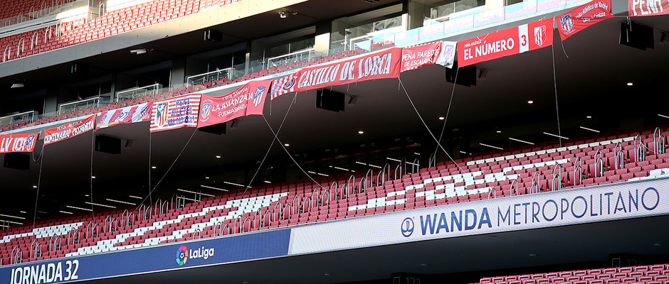 Temp. 19-20 | Atlético de Madrid - Alavés | Pancartas peñas