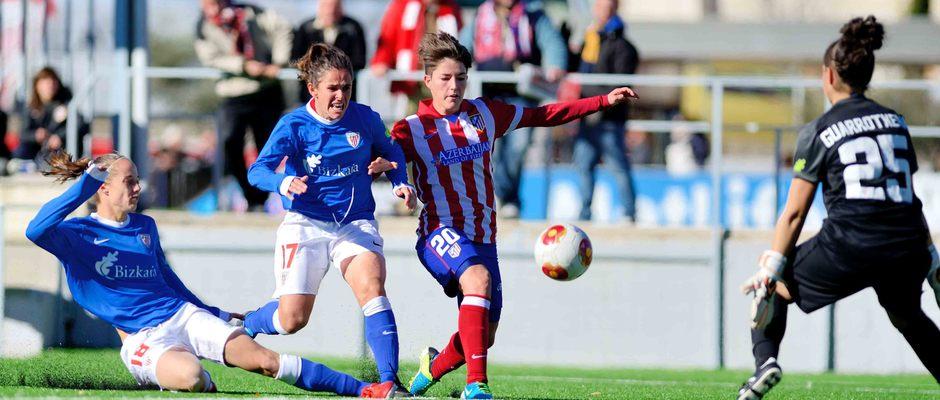 Temporada 2013-2014. Blanca anotó el segundo tanto ante el Athletic
