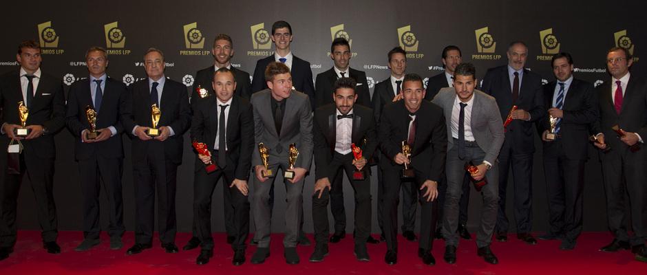 Simeone y Courtois, entre los premiados en la Gala de la LFP