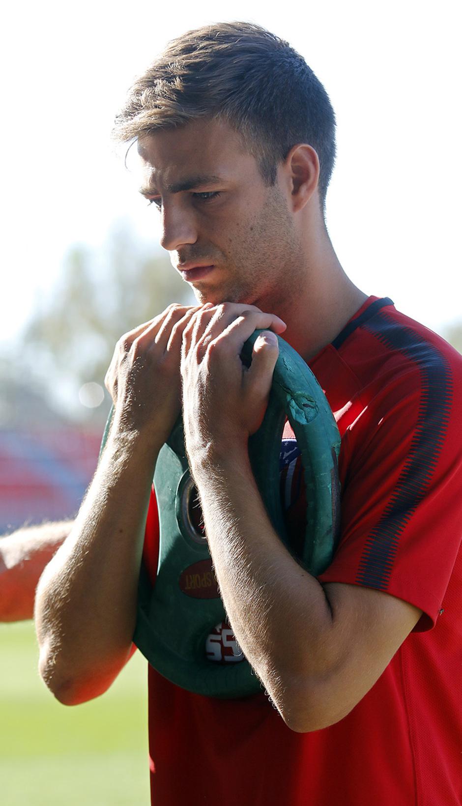 Temporada 17/18 | 03/10/2017 | Entrenamiento en la Ciudad Deportiva Wanda | Sergi