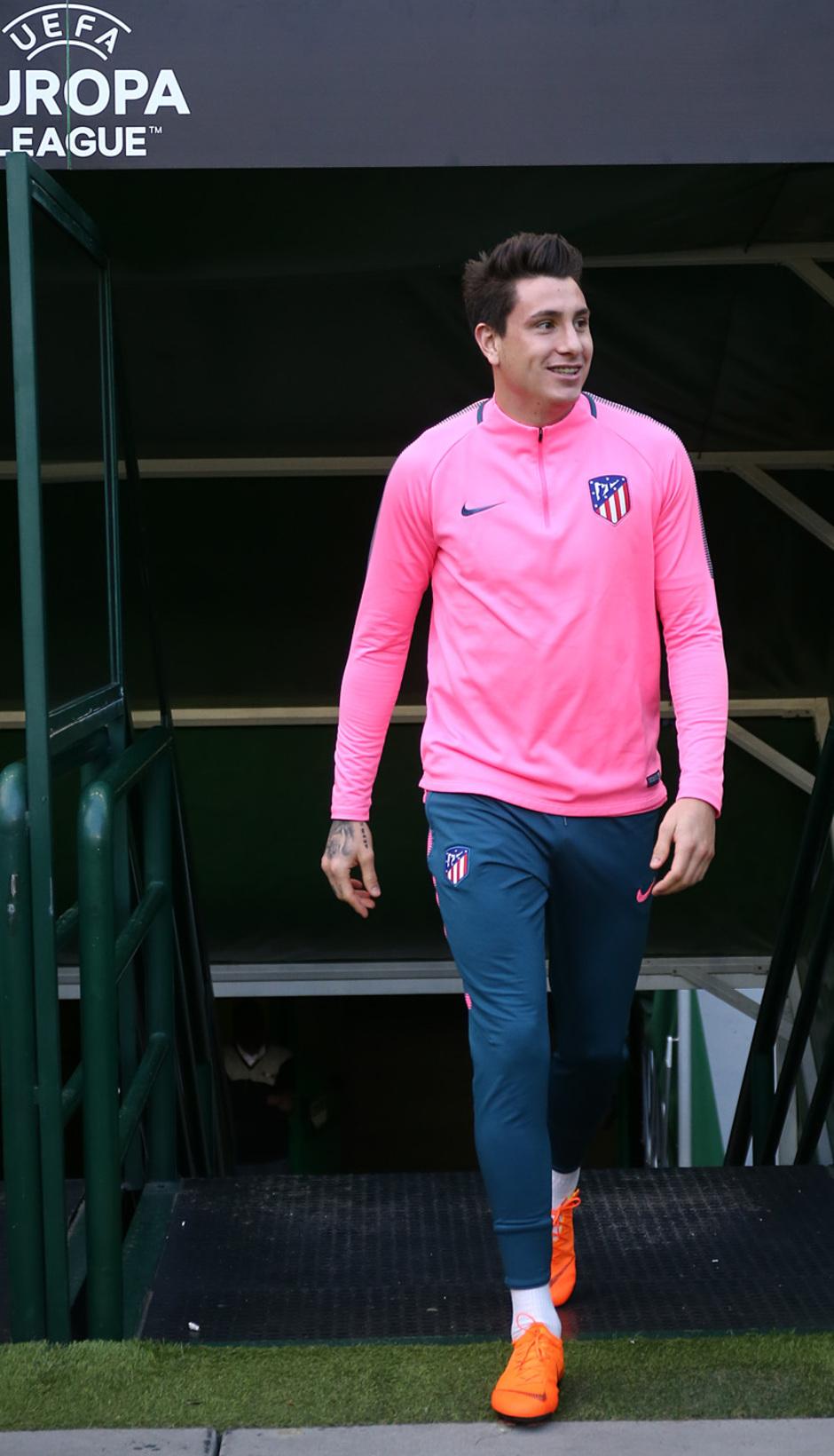 Temp. 17-18 | Europa League | Entrenamiento en el José Alvalade | Giménez