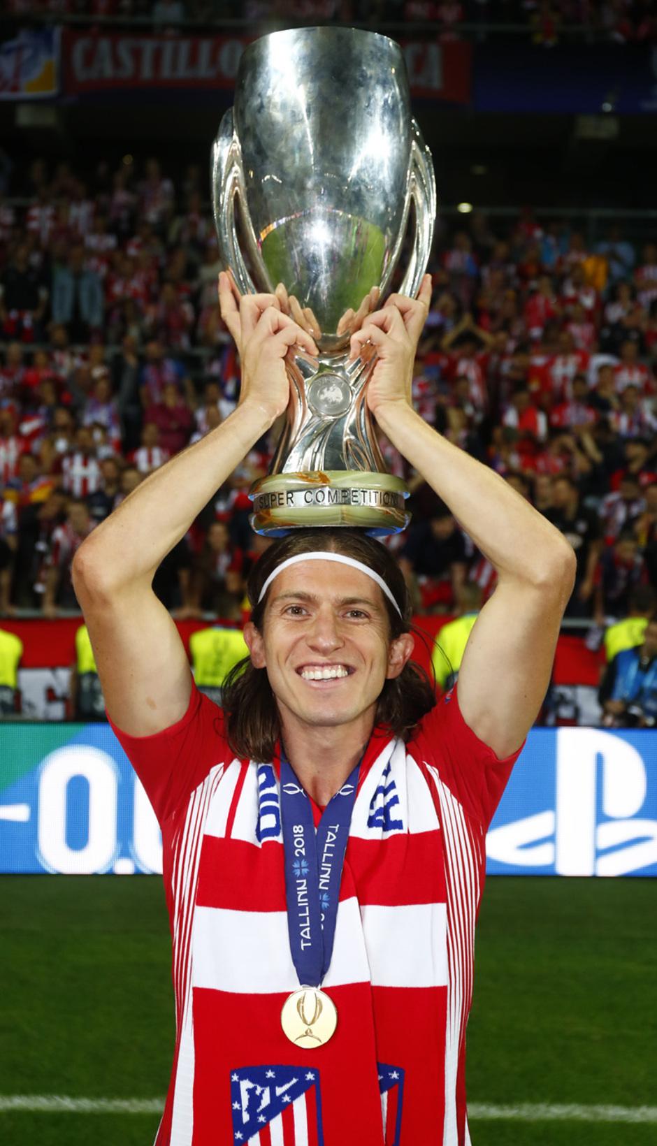 temporada 18/19. Supercopa de Europa. Filipe Luis