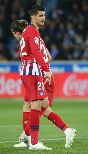 Temporada 18/19   Alavés - Atlético de Madrid   Morata