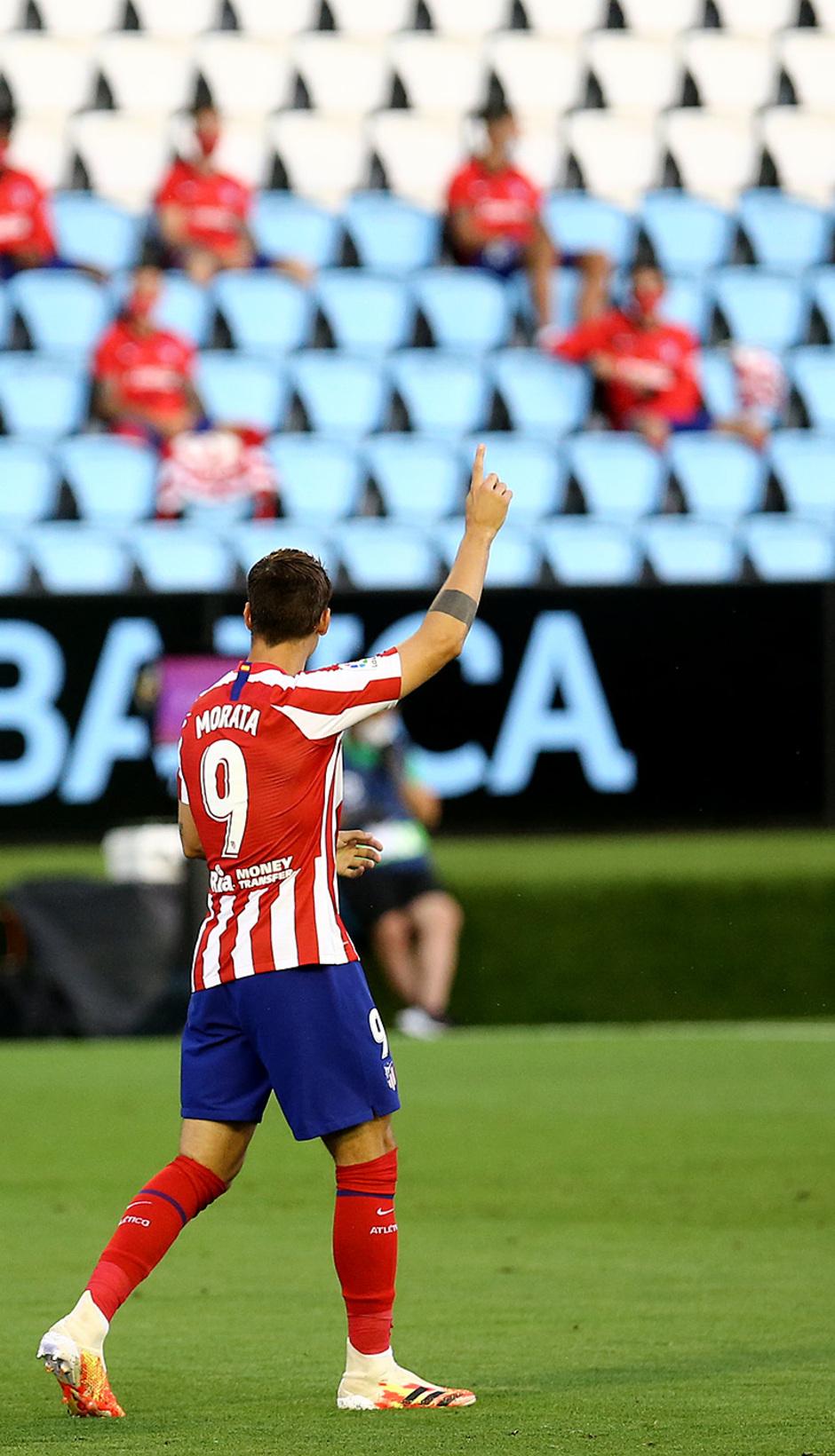 Temp. 19-20 | Celta - Atlético de Madrid | Celebración Morata