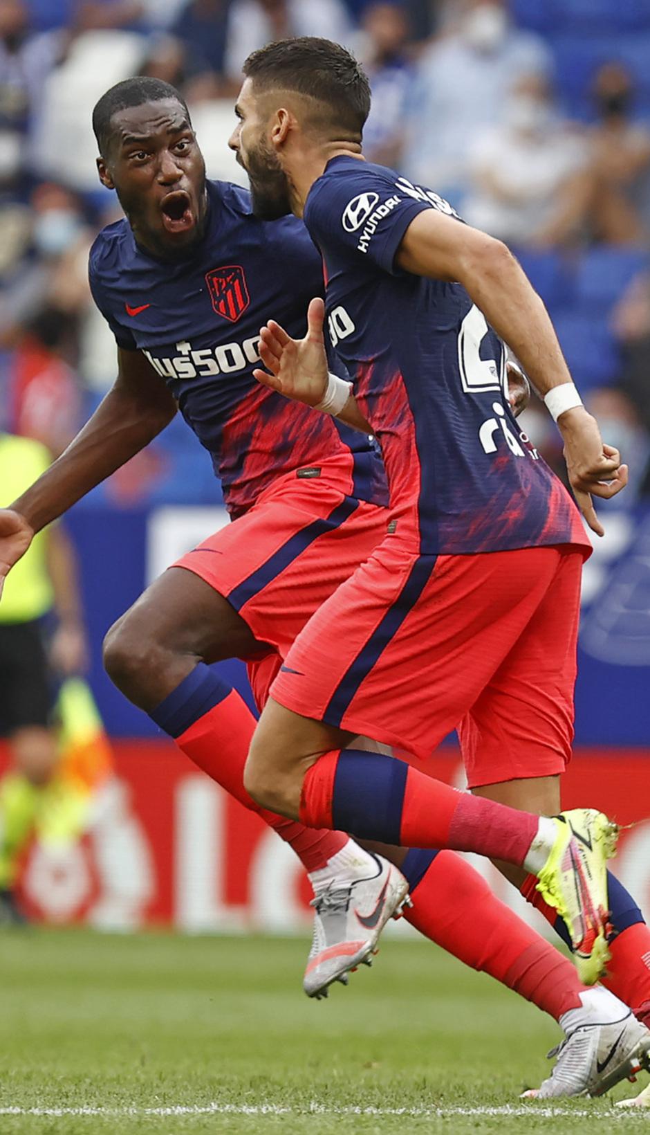 Temporada 21-22 | Espanyol - Atlético de Madrid | Kondogbia y Carrasco | Celebración