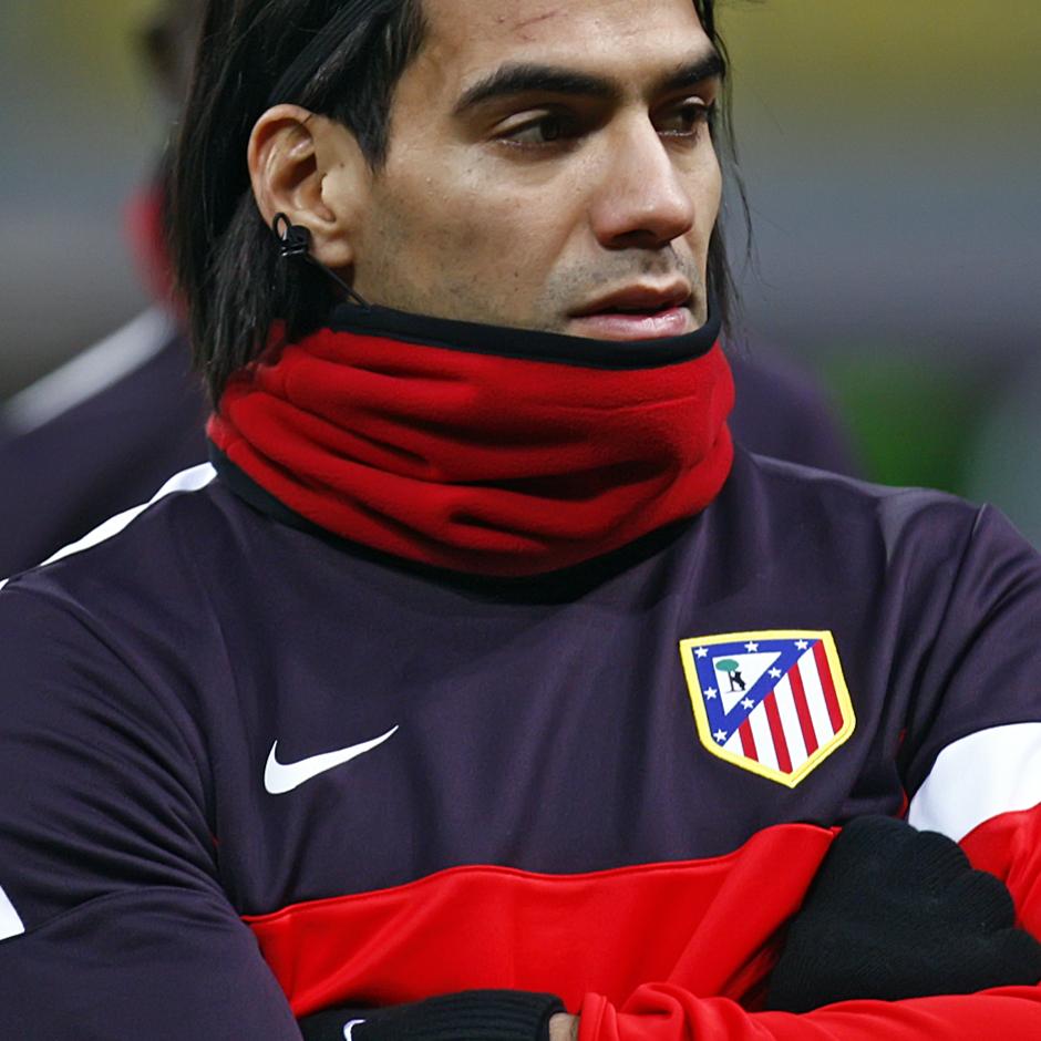 Radamel Falcao, justo antes de iniciarse la sesión de entrenamiento en el estadio Luzhniki.