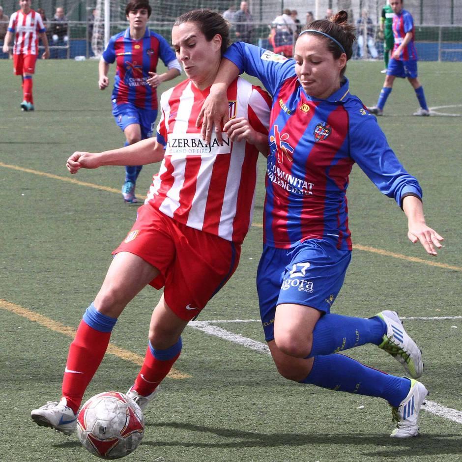 Priscila, en el partido contra el Levante