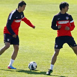 Temporada 12/13. Entrenamiento,Manquillo y Óliver durante el entrenamiento en la Ciudad Deportiva de Majadahonda