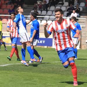 Cidoncha celebra su gol al Fuenlabrada, que fue el 2-0
